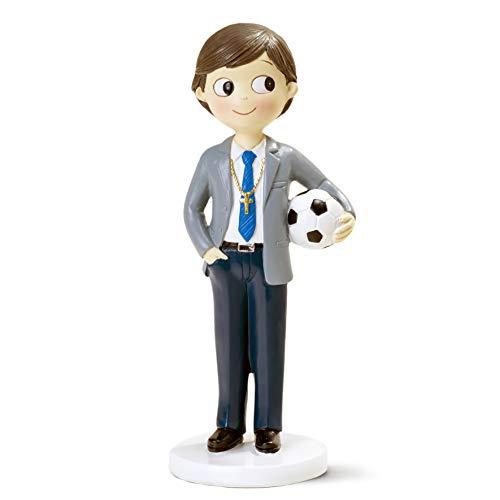 Mopec Kommunionsfigur Junge 16,5 cm, blau, 16,5 cm
