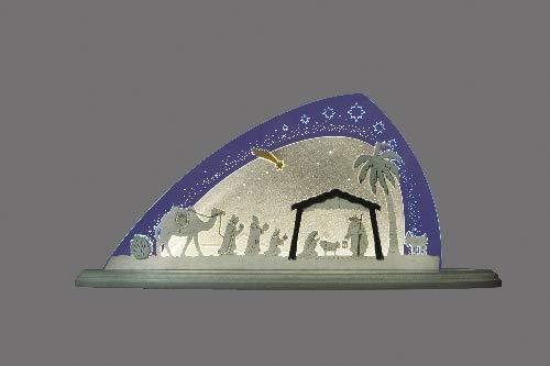 Motieflamp Christi geboorte (L/H/D): 47,0 cm x 22,0 cm x 8,2 cm NIEUW Ertsgebergte lichtboog lichtboog lichtboog
