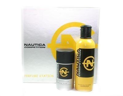 Nautica Competition Yellow By Nautica 2 Piece Set: 4.2 Oz EDT Spray+2.6 Oz Deodorant Stick (Alcohol-free)