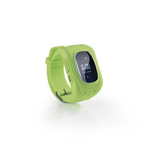 EASYmaxx Kinder Smartwatch | Smart Watch mit GPS Funktion, Elektrisches Digital Armband für Jungen und Mädchen | SOS Telefon, Standortlokalisierung, Tracker [Grün]