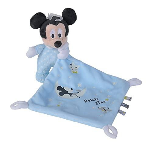 Simba Peluche Mickey Mouse Dou Dou Brilla en la Oscuridad con Mantita