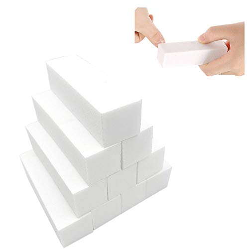 10 Pcs White Professional Nail Art Buffer Buffing Sanding Blocks,Nail Buffer Manicure Pedicure Tools Durable and Useful