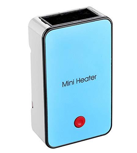AHELT-J Calentador de Espacio, Mini Calentador de Ventilador Personal, con Elemento Calefactor de Cerámica PTC y Protección contra Sobrecalentamiento para Oficina, Hogar,Azul