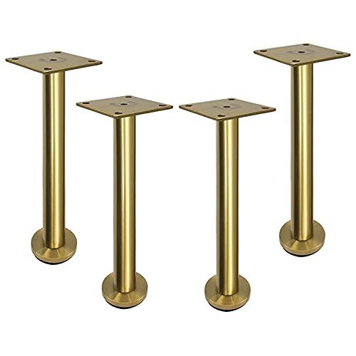 Piedini regolabili per mobili 4 pezzi, gambe per mobili in acciaio inossidabile, gambe per tavoli, piedini per mobili, piedini per divani in metallo con tubo tondo, per poltrona divano, armadio TV, le