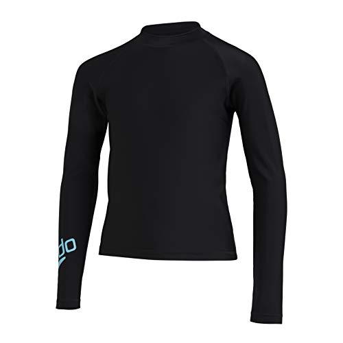 Speedo Boom Rash Guard - Camiseta de Licra para niño, Unisex niños, 812862F888, Noir/Light Adriatic, 24 (5-6 ANS)