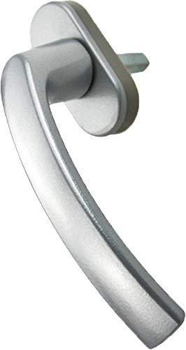 MS Beschläge ® Alu Fenstergriff Fenster Aluminium Griff 6 verschiedene Farben (Silber)