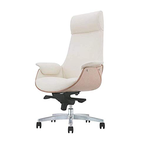ZLQBHJ Bürostühle, Bürostuhl, Home Office Schreibtisch Stühle, Leder Computer Stuhl kann auf dem Rücken liegen, Ergonomischer (Size : High Back Microfiber Leather)