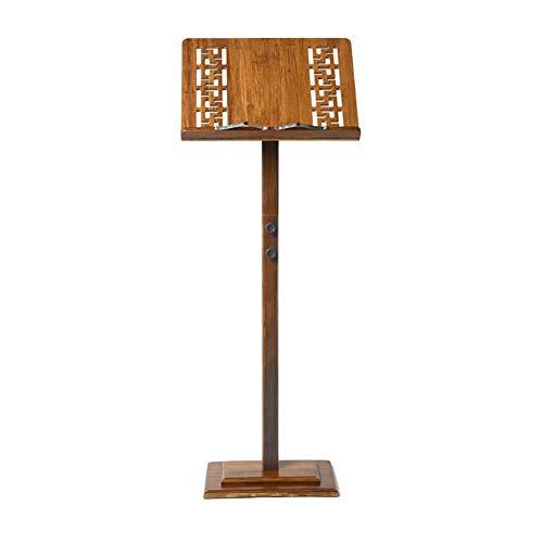 ZZRS Tragbare Bambus und Holz-Notenständer, Abhebbarer Haushalt Noten Stand, treffen können Verschiedene Musikinstrumente und Anlässe (Color : Hollow Version)