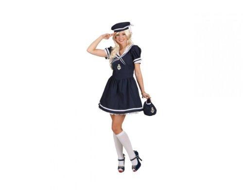 Sexy Matrosin Kleid Mütze, Größe:38