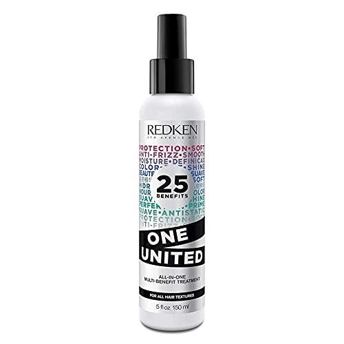 Redken | Multi-Benefit-Treatment, Feuchtigkeitsspendendes Pflege-Spray für alle Haartypen, Hitzeschutz & Anti-Haarbruch, One United, 1 x 150 ml