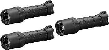 COAST Polysteel 600 710 Lumen Waterproof Pure Beam Focusing LED Flashlight with Twist Focus and Stainless Steel Core,Black Thrее Расk