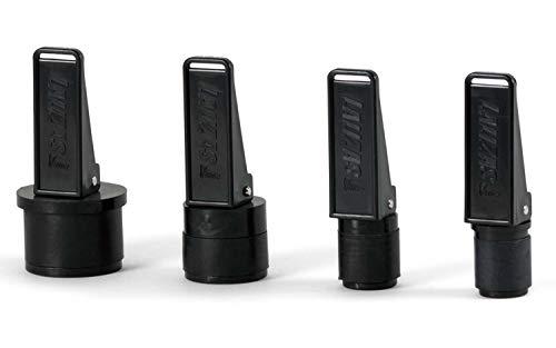 wellenshop 2X Lenzstopfen mit Hebel-Verschluss Kunststoff Schwarz Bilgestopfen Schnellverschluss Boot Bilge Stopfen Größe Durchmesser 22 mm