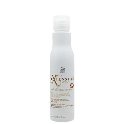Extension Care - Soft & Shine Shampoo - Shampoo Professionale per la Cura e la Manutenzione di Extension e Parrucche, Arricchito con Cheratina - 150 ml