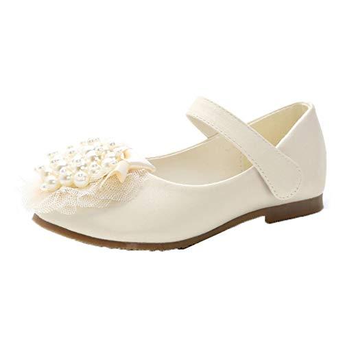 Zapatos de Princesa para niñas Color sólido Casuales de Cuero con Punta...