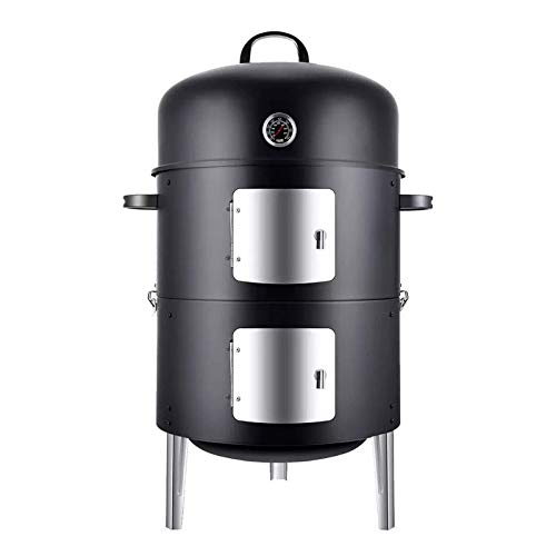 Multifunctional Portable Charcoal BBQ Grill with Smoked Oven BBQ Grill for Family Party/Outdoor/Camping Indoor Smokeless Outdoor BBQ Door