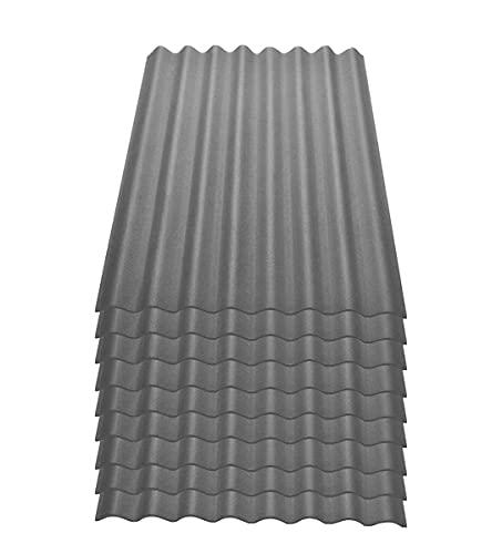 Onduline Easyline Dachplatte Wandplatte Bitumenwellplatten Wellplatte 9x0,76m² - grau