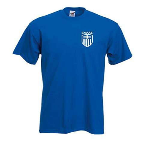 GRECIA GRIEGA azul equipo de Fútbol Fútbol Camiseta - Todas Las Tallas Disponibles - Azul Real, Azul Real, XXXXX-Large