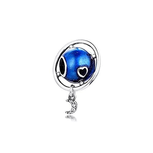 Pandora 925 plata esterlina joyería de bricolaje pulsera amor y luna pulsera claro cz encantos de metal joyería fina