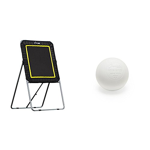 Champion Sports Deluxe Lacrosse Target: Ball Return Bounce Back Net Set and Lacrosse Balls - Pack of 12, White