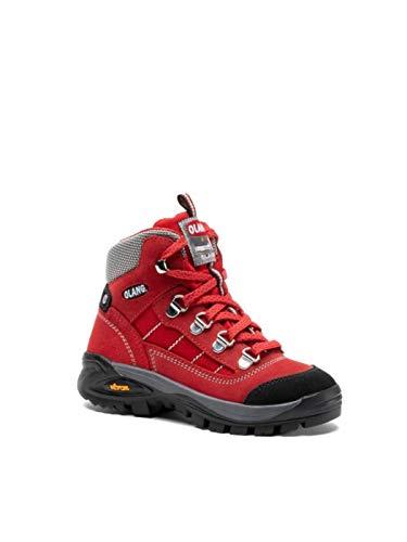 OLANG Trekking-Schuhe für Jungen und Mädchen, Kid Tex Leder 815, Original AI, 24486_3-9,4-29, Rot, 24486_3-9,4-29 44 EU