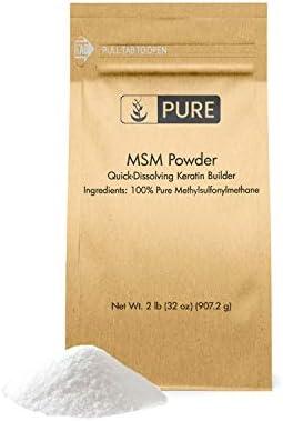 Methylsulfonylmethane MSM Powder (2 lbs), 100% Pure, Joint & Connective Tissue Health, Respiratory & Digestive Support*