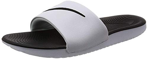 Nike KAWA Slide (GS/PS), Scarpe da Spiaggia e Piscina Uomo, Bianco (White/Black 100), 36 EU