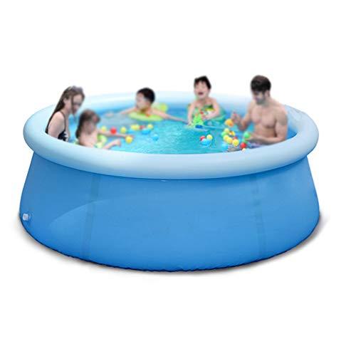 Aufblasbarer Pool, Runde Planschbecken Sommer Outdoor-Spaß-Spielzeug-Pool Familie Zeigen Privat Pool Garten und Terrasse Pool (Size : 244 * 71cm)