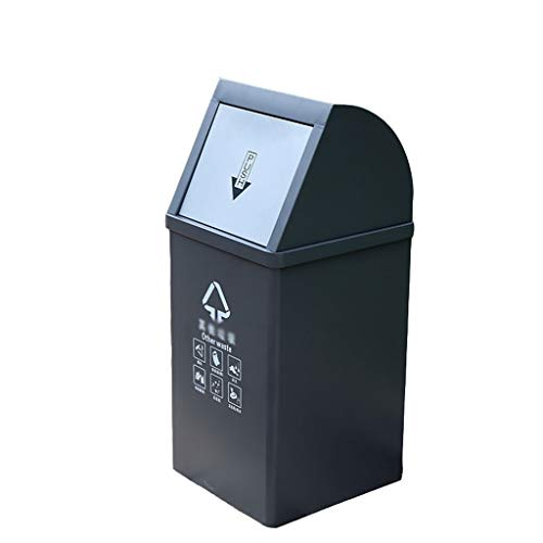 Learn More About JHEY 40L Outdoor Dustbins Stainless Steel Swing Lid Outdoor Dustbins Classified Trash Can Bins Large Capacity Public Storage Bucket Rubbish Bins Garbage Waste Wastepaper Bins (Color : Gray)