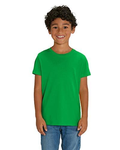 Hilltop Camiseta para Niños. Hecho con 100% Algodón Orgánico para Niños y Niñas. Perfecto para imprimir. (p. ej.: con láminas textiles), Size:98/104, Colour:Fresh Green