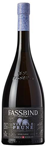Fassbind Vieille Prune (1 x 0.7 l) - Edler Schweizer Obstbrand aus vollreifen Pflaumen mit 40% vol. Alkohol