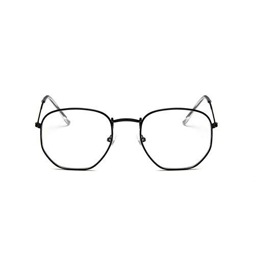 CHENG/ CHENG Sonnebrille Platz Sunglases Männer Sechseck Sonnenbrille Frauen Metallrahmen Angeln Brille Gold Grau Eyewear