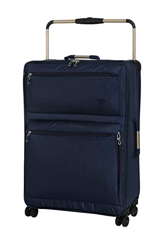 IT Luggage World's Lightest 74cm Four Wheel Spinner Suitcase Navy