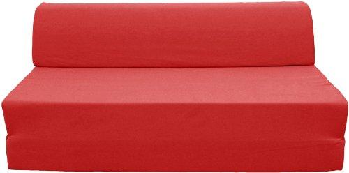 Pole JASPEB1Q2052 Ghost Banquette/Chauffeuse Convertible Mousse Coton Rouge Baiser 126 x 75 x 52 cm