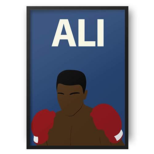 Muhammad Ali // Kunstwerk - minimalistisch - inspirierend - Retro Art - Minimalist - Inspirational - Colourful - Minimalist