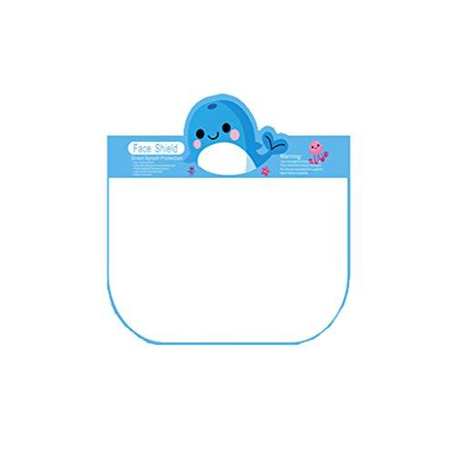 Kviklo Kinder-Schutzkappe, transparent, für die Küche, Ölspritzer, Anti-Rauch Gr. 80, Blau-Wal, 1 Stück