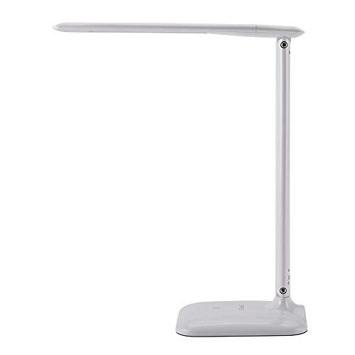 YUNTAO Lámparas decorativas Moderno LED 5W mesa de lectura lámpara blanca Mesa de luz, 4 modos y 4 niveles de brillo, la luz natural de los ojos Protección de luminarias, brazo de la lámpara ajustable