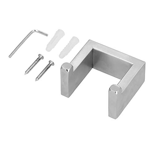 Soporte de gancho de pared 304 gancho de estante de almacenamiento de toalla doble de acero inoxidable cepillado para cocinas, baños, cuartos de herramientas