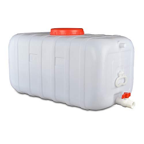Depósito De Agua For Exterior Con Grifo Blanco, Plástico Grueso Contenedor De Almacenamiento De Agua Cubo De Almacenamiento Portátil For El Hogar Barril De Productos Químicos Industrial Resistente A Á