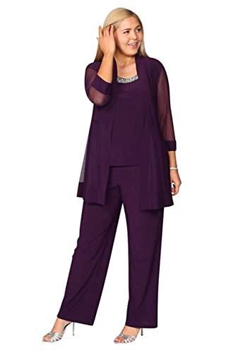 R&M Richards Long Pant Suit Dress Formal Plum