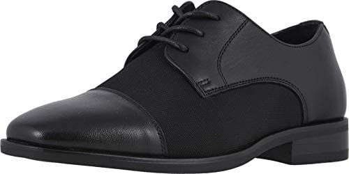 Florsheim boys Postino Mesh Jr Cap Toe Oxford Black 5 5 Big Kid US product image