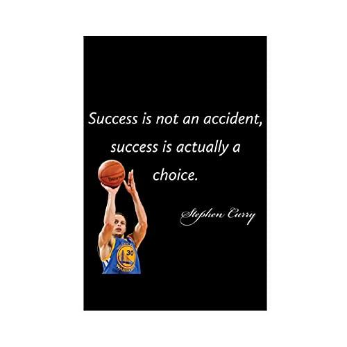 Stephen Curry - Póster de lona con cita de jugador de baloncesto americano 27, decoración de dormitorio, paisaje, oficina, habitación, decoración, regalo de 40 x 60 cm