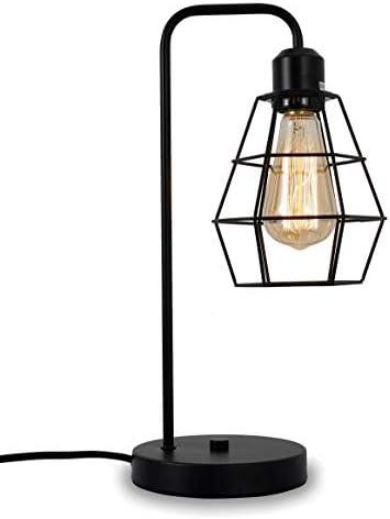 Industrial Table lamp Black Vintage Edison Desk Light Farmhouse Desk Lamps Metal Shade Cage product image