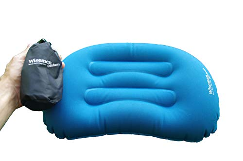 Wisemen Outdoors Ultralight Inflating Travel, Camping, Backpacking Pillow. Compressible. (1 Pack) (1 Pack)