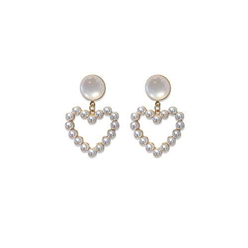 Verzorging parel hanger, dames oorbellen, 925 zilveren pinnen, Valentijnsdag geschenk, Winter oorbellen