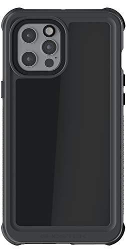 Ghostek Nautical Funda impermeable diseñada para iPhone 12 Pro Max con protector de pantalla resistente y resistente al agua para iPhone 12 ProMax 5G 2020 (6,7 pulgadas) (negro)