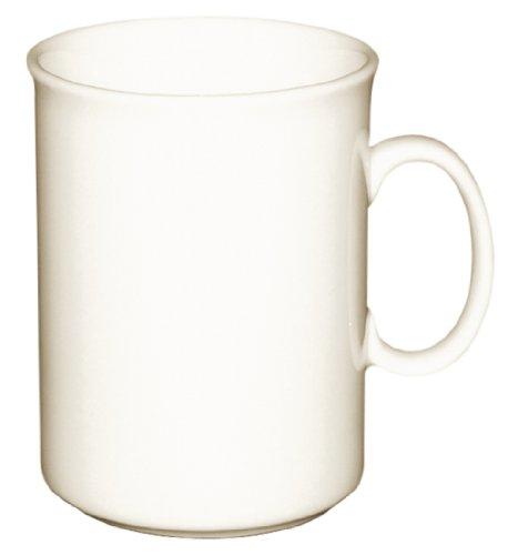 12 x Olympia Ivoire Tasses à café en porcelaine de 226,8 gram 220 ml Tasse à thé Passe au lave-vaisselle