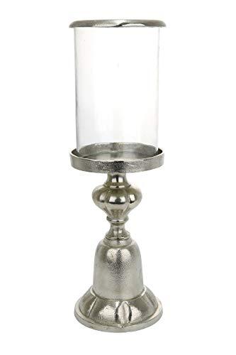 GILDE Elegance Windlicht Cansino - aus Aluminium mit Glas H 54 cm D 16,5 cm