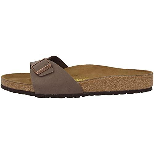 Birkenstock Schuhe Madrid Birko-Flor Nubuk Normal Mocca (040091) 40 Braun