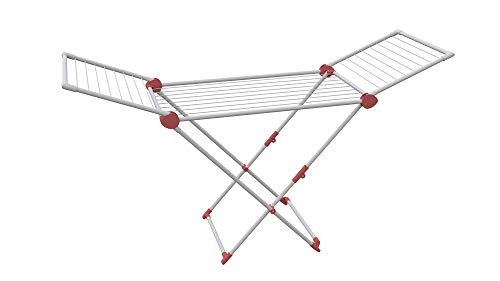 Artweger Wäschetrockner, Stahl, Aluminium und Kunststoff, Cranberry, 192.8 x 57.9 x 106.2 cm