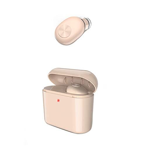 AchidistviQ Auriculares Inalámbricos En La Oreja, Auriculares Inalámbricos Bluetooth con Micrófono Y Estuche De Carga, Mini Auriculares para Correr En El Gimnasio Y Hacer Deporte Caqui